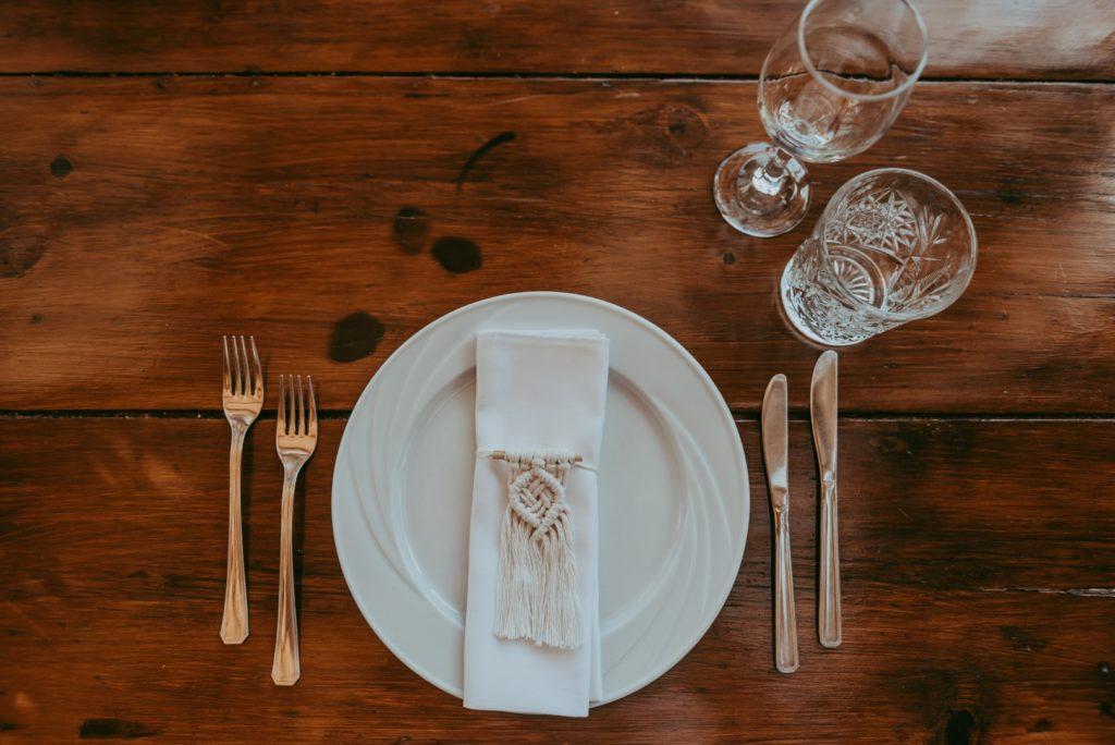 Macrame table set up- Boho style wedding